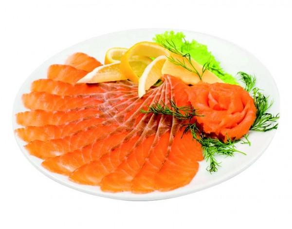 Plaquettes de saumon fumé